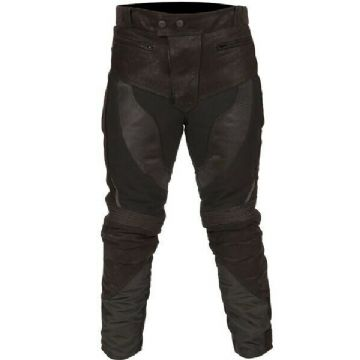 Buffalo Endurance Waterproof Leather Textile Mixed Trousers Pants Jeans - Black